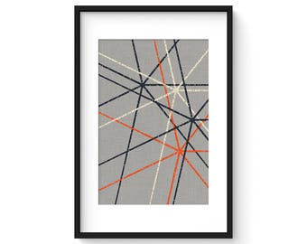 INTERSECT no.4 - Giclee Print - Modern Mid Century Modern Minimalist Abstract