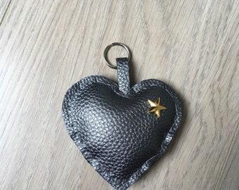Keyring gray heart