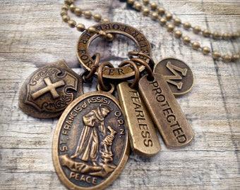 St francis of assisi etsy bronze st francis of assisi patron saint of animals ecology sick aloadofball Choice Image