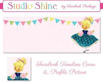 DIY Facebook Cover Package - Facebook Timeline Cover and Profile Picture - Sweet Celebration - Website Blog Banner Digital Instant Download