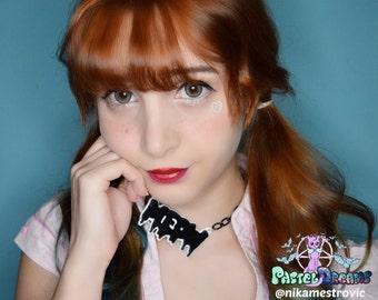 meow necklace Pastel Goth, Soft Grunge, kawaii,soft grunge, lolita,harajuku,fairy kei