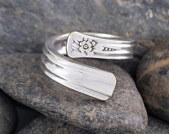 Silverware Handle Ring (Spoon Ring) Size 9 SR164