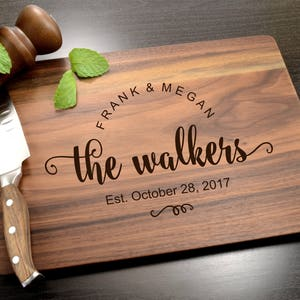 Personalized Cutting Board - Engraved Cutting Board - Custom Wooden Board - Wedding Gift - Housewarming Gift - Anniversary Gift - Engagement