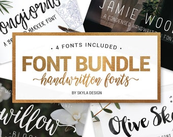 Font Bundle, handwritten fonts, Modern calligraphy font, brush fonts, wedding font download, brush script, handwritten fonts, fun font