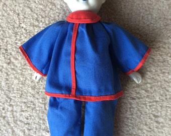 """Blue & White Porcelain """"DELFT-like"""" Asian doll"""
