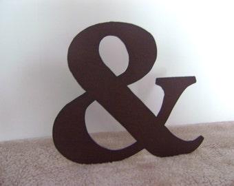 Ampersand, 14 inch ampersand, Distressed Ampersand, Metal Ampersand Wall Hanging, Rusty metal ampersand, leaning ampersand