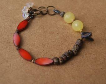 Rustic modern bracelet, rustic boho, rustic echoes, rustic earthy, rustic jewelry, rustic artisan, rustic antique, rustic bohemian bracelet