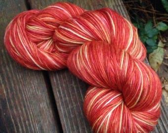 Don't Panic - NEW hand dyed sock yarn superwash Merino wool blend 462 yards 100 grams