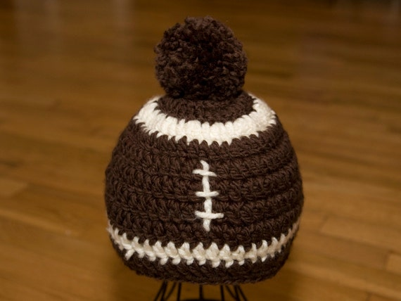 Adult Football Hat Crochet Pattern Quick And Easy Adult Beanie
