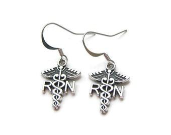 Nurse Earrings, RN Earrings, |Registered Nurse Earrings, Earrings For Nurse, Nursing Student Earrings , Medical Earrings, Nurse Jewelry