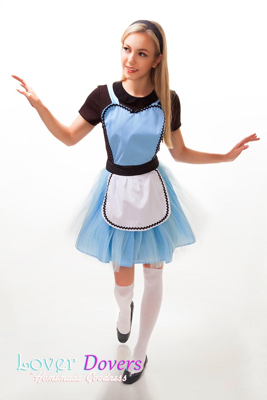 ALICE im Wunderland Schürze Alice Tutu Kleid Schürze