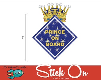Prince On Board Car Decal - Baby on Board