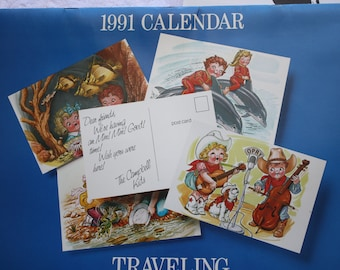 1991 Campbell Soup Kids Calendar Traveling with the Campbell Kids