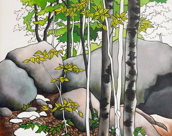 Nature Art Print, Woodland Art, Forest Wall Decor, Camping Art Print, 8 x 10 Art Print, Parks and Recreation, Ontario Parks Art