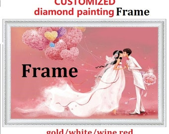 customized frame for diamond painting install kits wood frame set settlement accessories wooden framed mosaic painting  solid wood frame