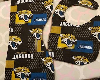 Jacksonville Jaguars burp cloth and bib set