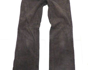 Women's Vintage ESPRIT Zip Fly Brown Corduroy Stretch Bootcut Jeans Size W30 L32 / UK12