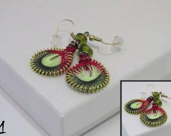 Handmade Peruvian-Styled Thread Earrings