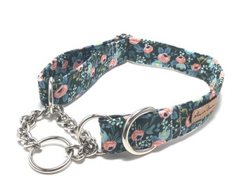 Martingale Dog Collar - You Pick the Print - Pick From Any Fabric in Our Shop - Custom Martingale - Martingale Collar - Martingale Chain