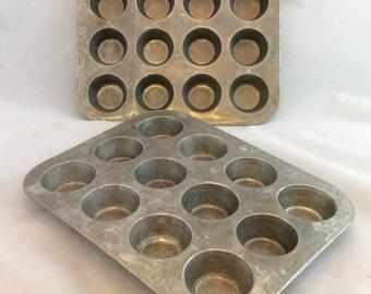 Vintage Foley Mini muffin tin , mini muffin cupcake pan