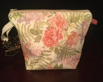 Pretty Pastel Floral Knitting Project Bag