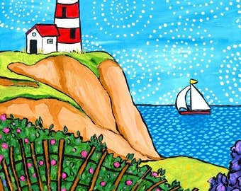 Lighthouse  Coastal seascape -Nova Scotia-  Shelagh Duffett Print