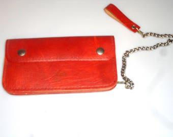"40217SN01 Toronto Star WALLET Unisex BELT Wallet Red Leather Wallet Stamped ""Toronto Star""  Vintage Wallet Toronto Newspaper Cowhide"