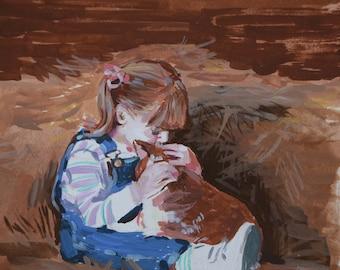 Small Custom Watercolor portrait