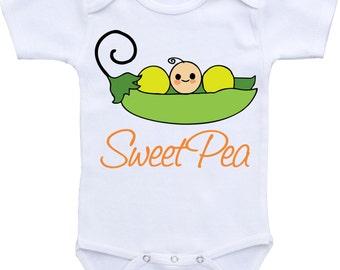 Sweet Pea baby onepiece baby gift newborn girl newborn boy Cute Baby Onesies Baby Shower gift Baby onsies for girls baby onsies for boys