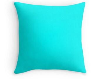 Aqua Pillow Case, Aquamarine Toss Pillow, Aqua Throw Pillow, Aqua Decorative Pillow, Aqua Pillow, Blue Toss Pillow, Aqua Bedding, Aqua Room