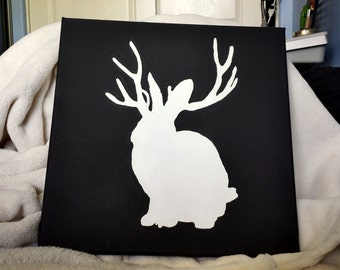 Hand Painted Miike Snow Jackalope
