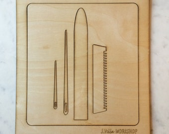 """NEW and improved 12"""" x 13"""" Loom and Weaving Guide"""