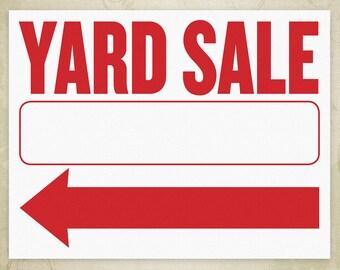 garage sale sign printable