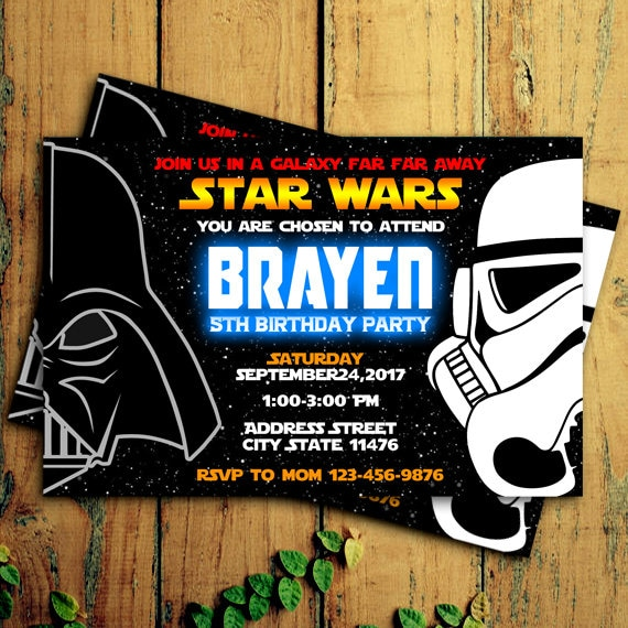 Star Wars Invitations Star Wars Birthday Invitation Star