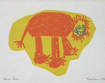 Chris's Lion    by Barbara Fernekes Hughes