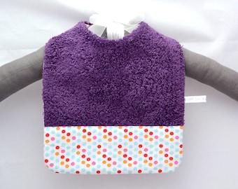 Smart purple baby bib