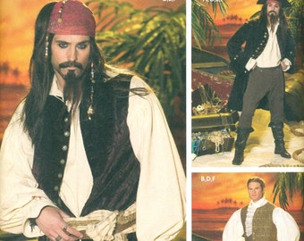 Simplicity 4923 PIRATE JACK SPARROW Andrea Schewe Costume Size Large & Extra Large ©2004 Simplicity 0627