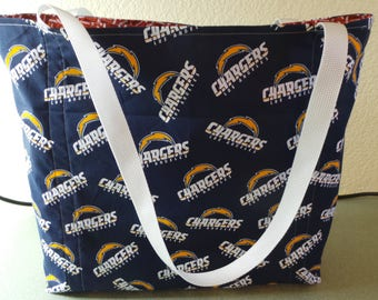 Los Angeles Chargers Football, Reusable Farmers Market / Grocery / Shopping Bag / Tote