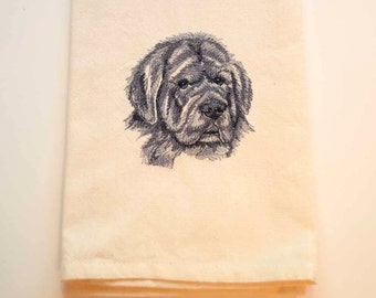 Newfoundland Dog Tea Towel | Personalized Kitchen Towel | Dog Lover Gift | Embroidered Tea Towel | Embroidered Towel | Kitchen Towel