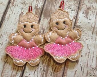 Ballerina Gingerbread ballet dancer Home Decor, Gingerbread Man, Tree Ornament, Tree Decration, Christmas Ornament,