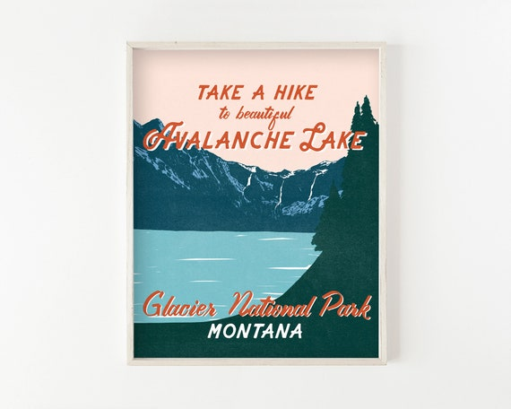 Avalanche Lake - glacier national park wall art