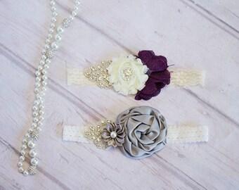 Flower Girl Headband, Baby Headband, Newborn Headband, Gatsby Headband, Wedding Headband,