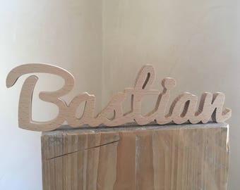 Bastian-Name of wood/wooden lettering