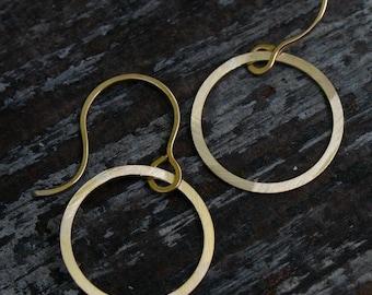 small open circle earrings.