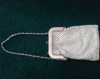Whiting & Davis vintage mesh white bag