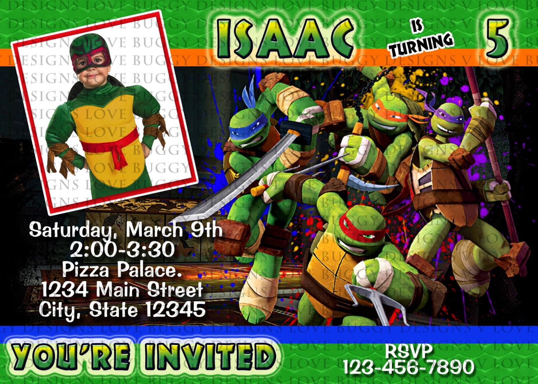 Ninja turtle invitation tmnt invitations ninja party ninja zoom filmwisefo Image collections