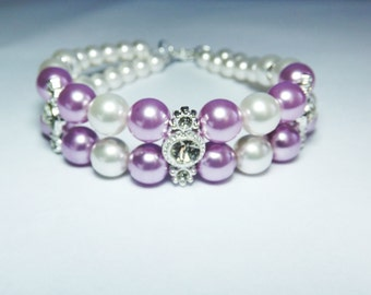 Pink Swarovski pearls jewelry set, Pink jewelry, Bridesmaid jewelry bracelet, Light  pink pearl jewelry, Pink bridesmaid jewelry set