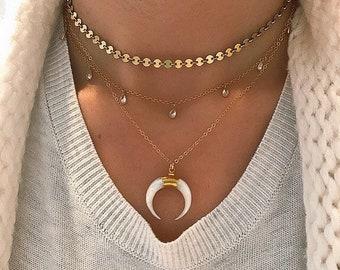 Gold Disk Choker, Gold Coin Choker, Gold Sequin Choker, Coin Necklace, Gold Choker, Dainty Choker, Gold Necklace, Gold Coin Necklace