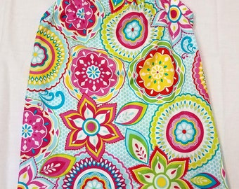 Bright flowers pillowcase dress