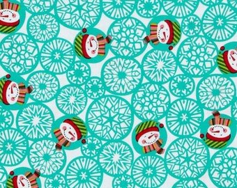 Fabric Christmas snowman snow Miller patchwork